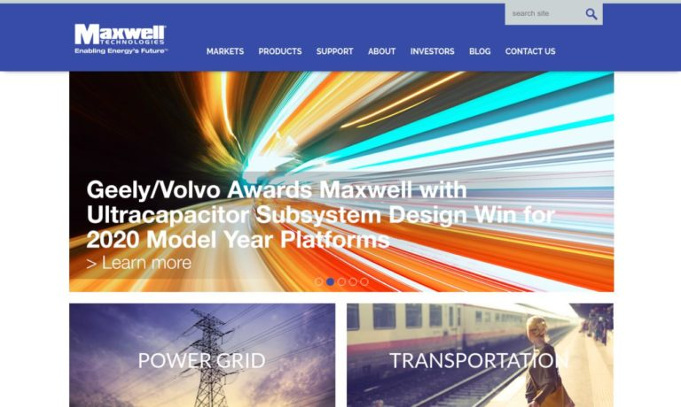 Maxwell® Technologies, Inc.