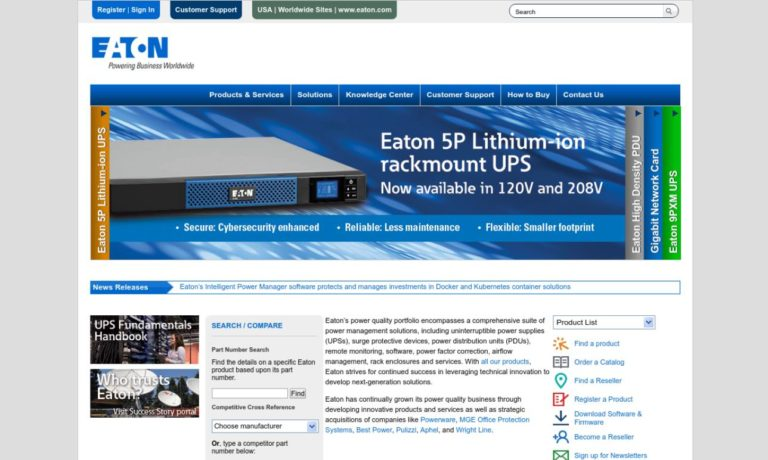 Eaton Corporation, Power Quality