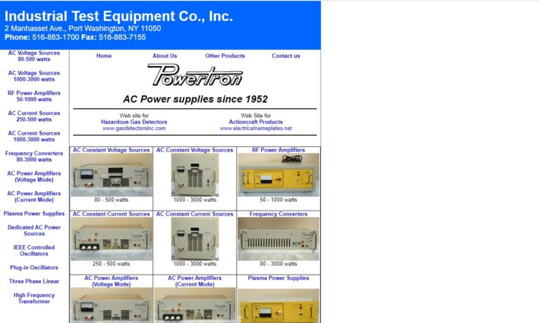 Industrial Test Equipment Company, Inc.